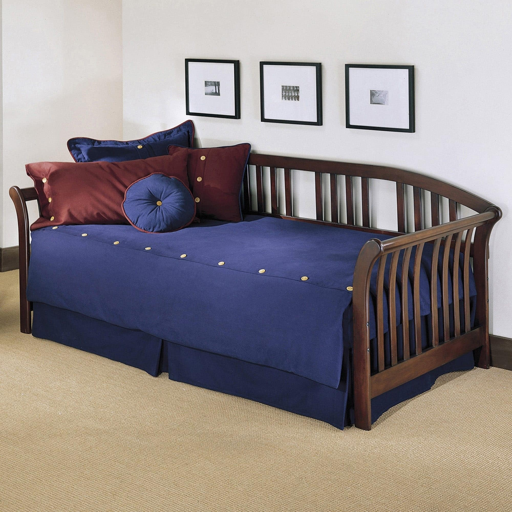 Fashion Bed Group Salem Brown Wood Daybed, Size Twin