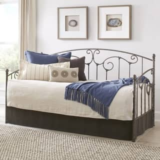 Fashion Bed Group Hinsdale Silver Steel Daybed and Trundle https://ak1.ostkcdn.com/images/products/18215366/P24357559.jpg?impolicy=medium