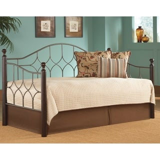 Fashion Bed Group Bianca Metal and Wood Daybed Frame with Arched Back Panel
