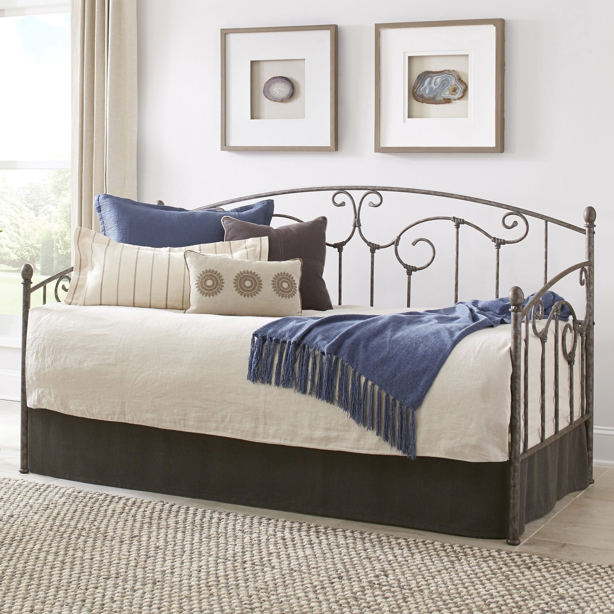 Fashion Bed Group Hinsdale Carbon Steel Daybed With Slopi...