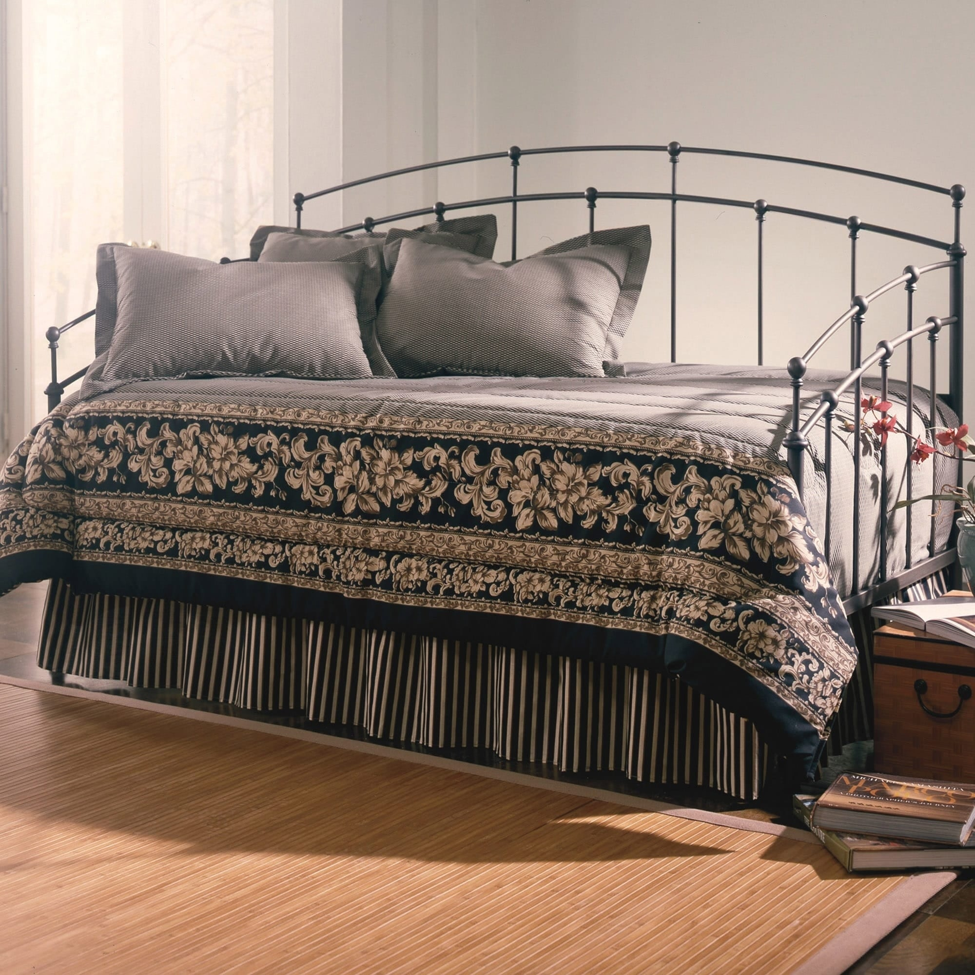 Fashion Bed Group Fenton Black Walnut Finish Complete Met...