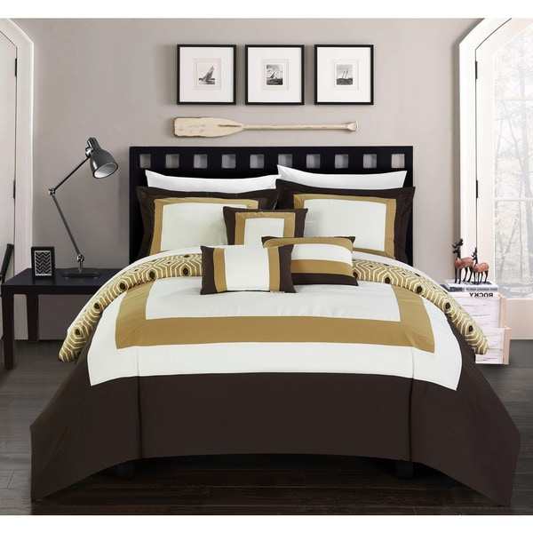 Reviews On Hotel Collection Bedding: Shop Chic Home Heldin 10 Piece Gold Reversible Hotel