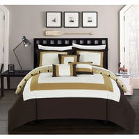 Chic Home Heldin 10 Piece Gold Reversible Hotel Collection Comforter Set Bed in a Bag