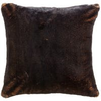 Chestnut Faux Fur Throw Pillow