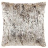Comfy Faux Fur Throw Pillow