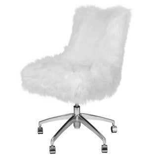 Rhona Faux Fur Office Desk Chair