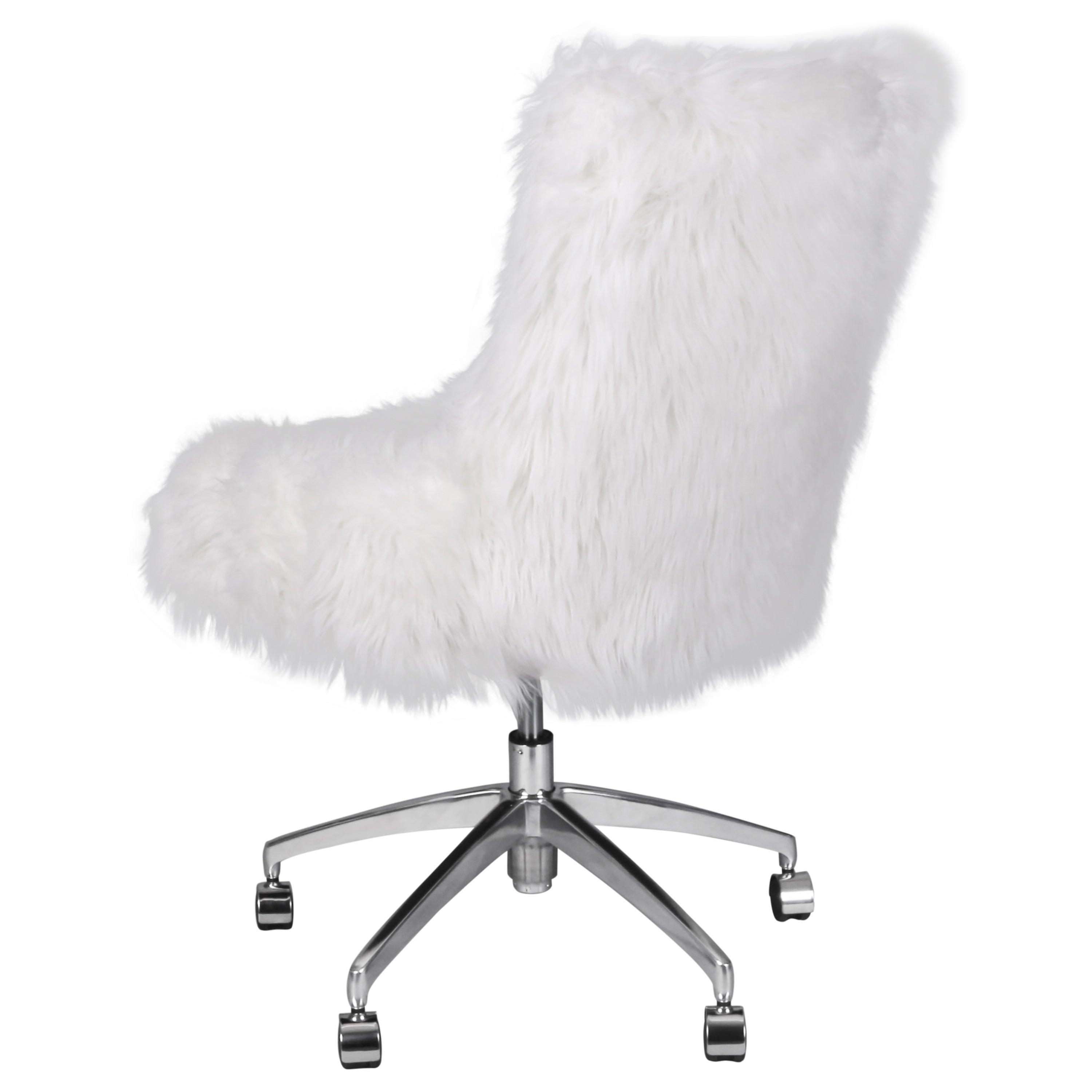 Image of: Shop Black Friday Deals On Rhona Faux Fur Office Desk Chair Overstock 18215475