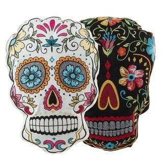 2 Piece Sugar Skulls Throw Pillow Set