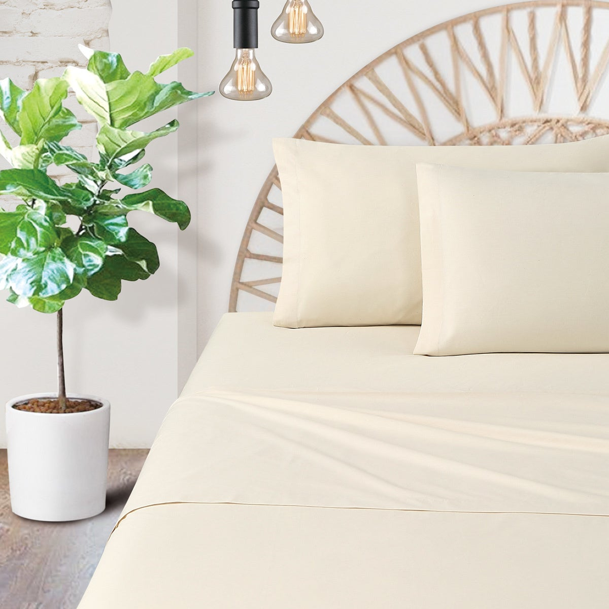 Certified Organic Cotton Percale 200 Thread Count Bed Sheet Set On Sale Overstock 18215540