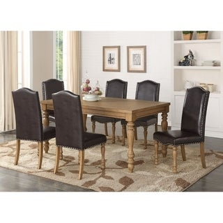 Elegant Albury Contemporary Black Leatherette Artisan Dining Chairs (Set Of 6)