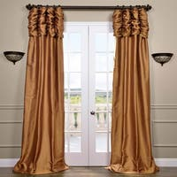 Exclusive Fabrics Silk 96-inch Ruched Curtain