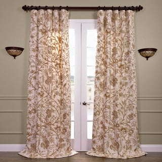 Exclusive Fabrics Chantal Cotton Embroidered Crewel Curtain