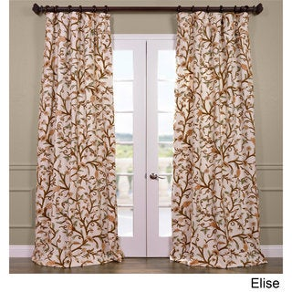 Exclusive Fabrics Elise Cotton Embroidered Crewel Curtain (4 options available)