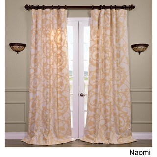 Exclusive Fabrics Naomi Embroidered Cotton Crewel Curtain