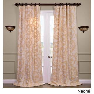 Exclusive Fabrics Naomi Embroidered Cotton Crewel Curtain