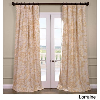 Exclusive Fabrics Lorraine Cotton Embroidered Crewel Curtain