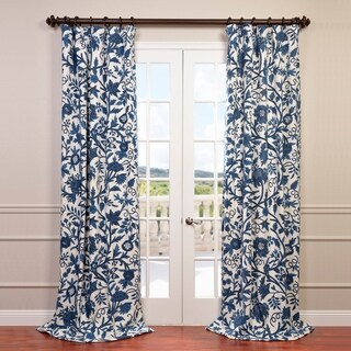 Exclusive Fabrics Norway Embroidered Cotton Crewel Curtain (3 options available)