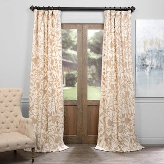 Exclusive Fabrics Celine Embroidered Cotton Crewel Curtain