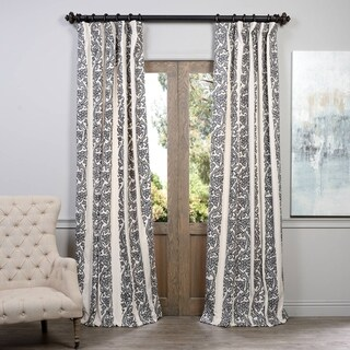 Exclusive Fabrics Florence Embroidered Cotton Crewel Curtain