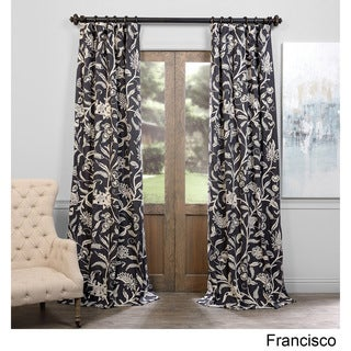 Exclusive Fabrics Francisco Embroidered Cotton Crewel Curtain