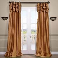 Exclusive Fabrics Signature Ruched Thai Silk 120-inch Curtain