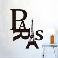 Paris Eiffel Tower Wall Vinyl Sticker 25 x 17