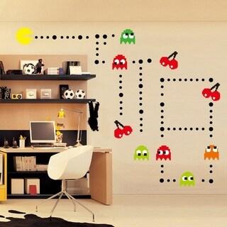 Cartoon Pac Man Wall Vinyl Decor 11 x 35