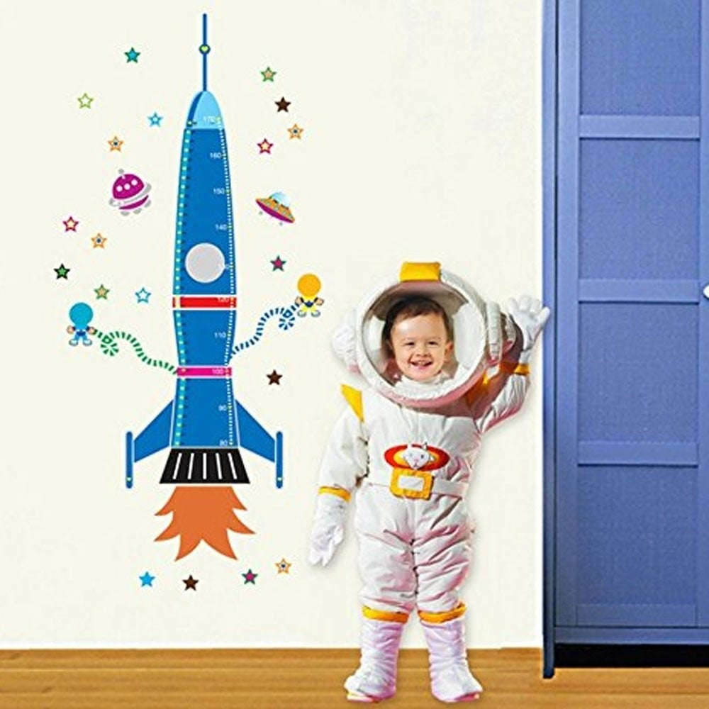 Cartoon Rocket Spaceship Kids Wall Viny 31 x 60 Wall Viny...