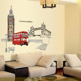 London Big Ben Tower Bridge Wall Decals 35 x 23 Wall Vinyl