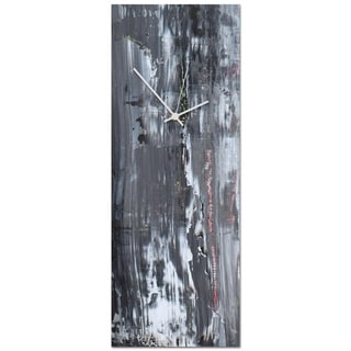 Celeste Reiter 'Urban Slate Clock Large' 9in x 24in Modern Wall Clock on Metal