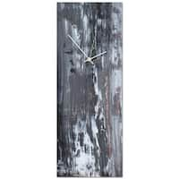 Celeste Reiter 'Urban Slate Clock Large' 9in x 24in Modern Wall Clock on Metal