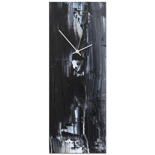 Celeste Reiter 'Urban Black Clock Large' 9in x 24in Modern Wall Clock on Metal
