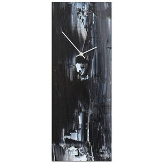 Celeste Reiter 'Urban Black Clock Large' 9in x 24in Modern Wall Clock on Metal