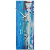 Celeste Reiter 'Urban Cool v4 Clock' 6in x 16in Modern Wall Clock on Metal