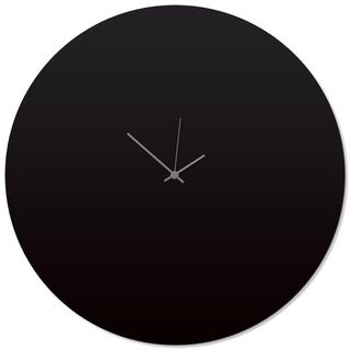 Adam Schwoeppe 'Blackout Grey Circle Clock Large' 23in x 23in Contemporary Clock on Aluminum Polymetal