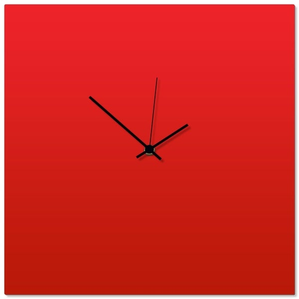 Adam Schwoeppe 'Redout Black Square Clock' 16in x 16in Contemporary Clock on Aluminum Polymetal