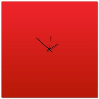 Adam Schwoeppe 'Redout Black Square Clock Large' 23in x 23in Contemporary Clock on Aluminum Polymetal