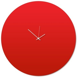Adam Schwoeppe 'Redout White Circle Clock Large' 23in x 23in Contemporary Clock on Aluminum Polymetal