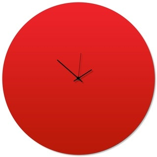 Adam Schwoeppe 'Redout Black Circle Clock Large' 23in x 23in Contemporary Clock on Aluminum Polymetal