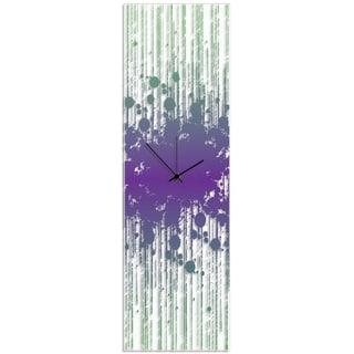 Adam Schwoeppe 'Throwback Paint Splatter Clock' 9in x 30in Contemporary Decor on Plexiglass