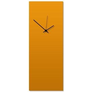 Adam Schwoeppe 'Orangeout Black Clock Large' 8.25in x 22in Contemporary Clock on Aluminum Polymetal