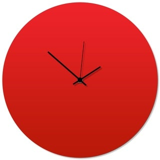 Adam Schwoeppe 'Redout Black Circle Clock' 16in x 16in Contemporary Clock on Aluminum Polymetal