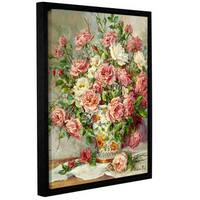 Barbara Mock's Posies For The Princess, Gallery Wrapped Floater-framed Canvas