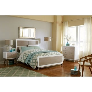 Hillsdale East End Panel Full Bed, Taupe/White
