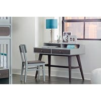 Hillsdale East End Desk with Chair, Gray