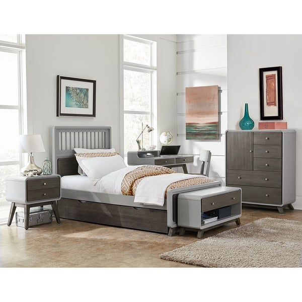 Shop Hillsdale East End Spindle Twin Bed With Trundle Gray Free
