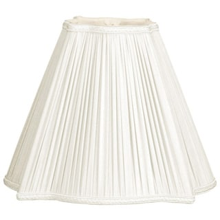 Royal Designs Fancy Square Empire Pleated Designer Lamp Shade, White, 4.25 x 10 x 8.5