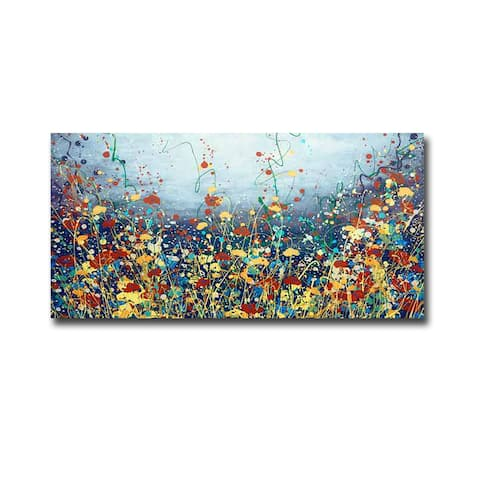 Poem Flower by Daniel Lager Gallery-Wrapped Canvas Giclee Art
