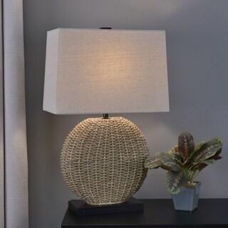 Dune Woven Rattan Table Lamp