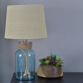 Owen Jute Wrapped Glass Table Lamp